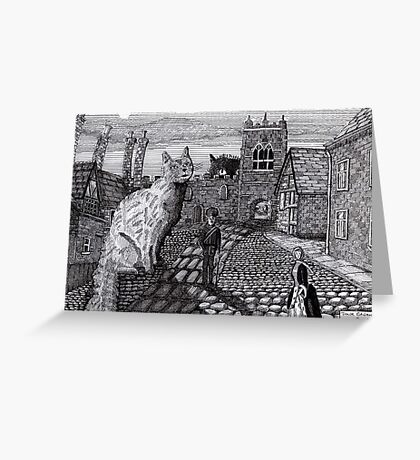 216 - TOBY AND TABATHA IN THE TINY CITY - DAVE EDWARDS - INK - 2008 Greeting Card