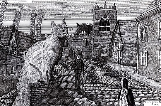 216 - TOBY AND TABATHA IN THE TINY CITY - DAVE EDWARDS - INK - 2008 by BLYTHART