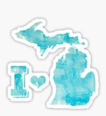 I Heart MI Sticker