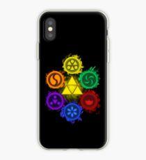 Vinilo o funda para iPhone Leyenda de Zelda - Ocarina of Time - Los 6 sabios