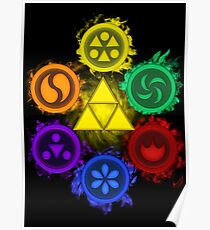 Legend of Zelda - Ocarina of Time - The 6 Sages Poster