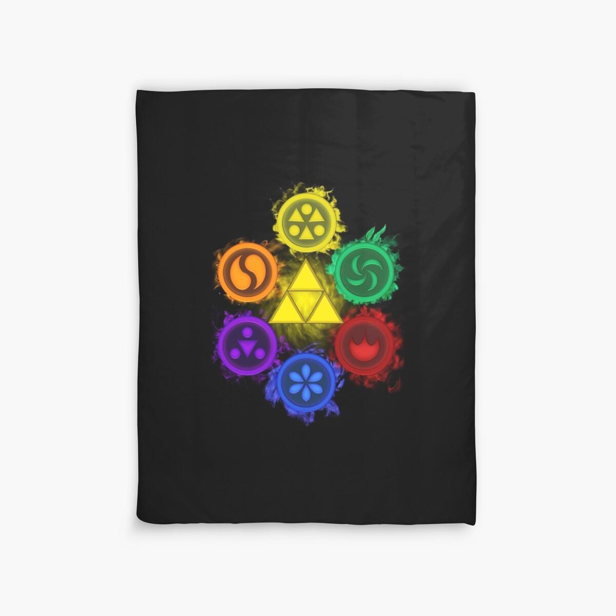 Quot Legend Of Zelda Ocarina Of Time The 6 Sages Quot Duvet