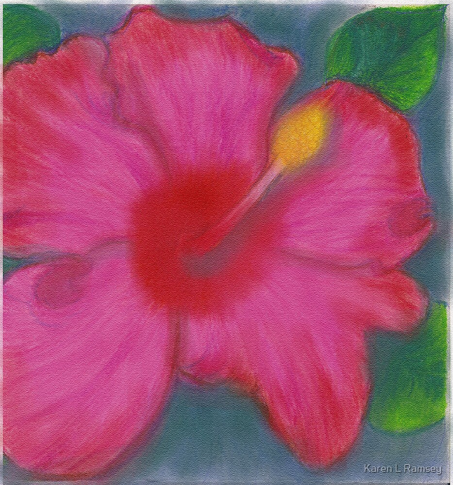 Karen's Oil Hibiscus by Karen L Ramsey