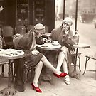 Red Shoes Vintage Paris Fashion 1925 by Glimmersmith