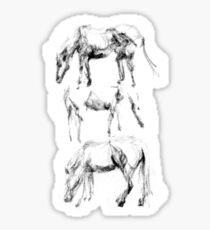 Stacked Horses Sticker