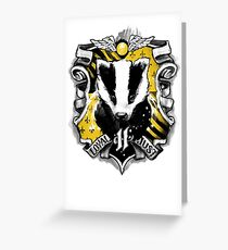 H Crest Greeting Card