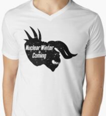 NUCLEAR WINTER IS COMING V-Neck T-Shirt