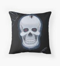 Rick Eddie Bones Throw Pillow