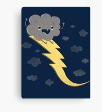 RIDE THE LIGHTNING! Canvas Print