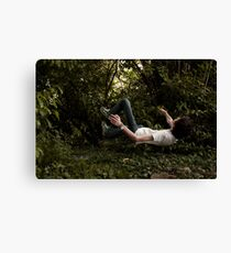 Floating People - Self Portrait Canvas Print