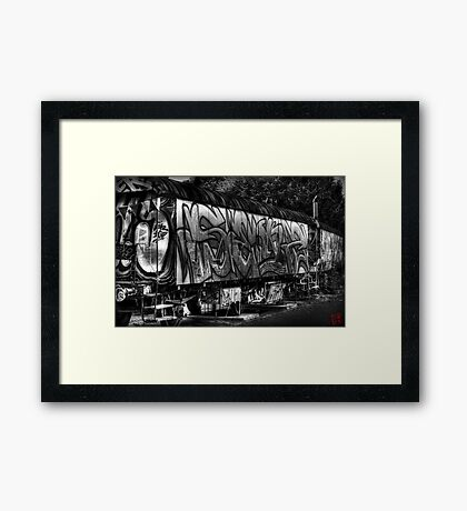 Used & Abused Framed Print