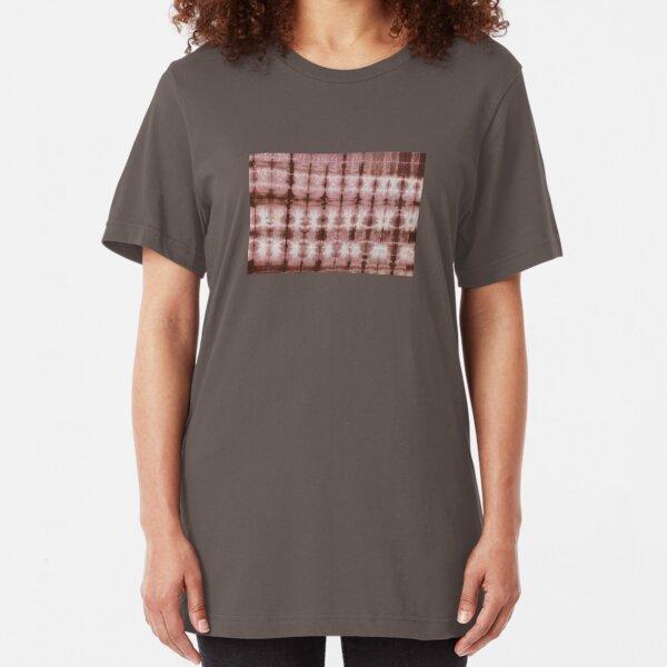 SKU553 Shibori Style - Chocolate 3 Slim Fit T-Shirt