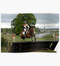 Tricia Hynd on Bill at Floors' Castle Eventing 2011 Poster