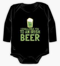 I challenge you to an IRISH BEER green Ireland pint  One Piece - Long Sleeve