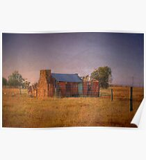 Lonesome - Derelict House - Murray Bridge to Mannum Road, SA,  Poster