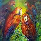 Gossiping parrots by Ivana Pinaffo