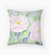 Happy Knockout Roses Throw Pillow