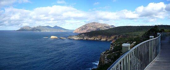 A walk on the edge   Freycinet National Park   Tasmania   panorama by lighthousecove