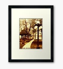 Depot Park (Historic District, Downtown Kalispell) Framed Print