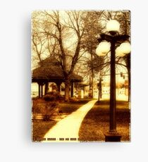 Depot Park (Historic District, Downtown Kalispell) Canvas Print
