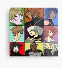 The Heros and Villians of Kingdom Hearts Metal Print