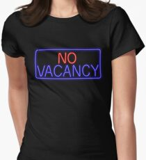 No Vacancy Womens Fitted T-Shirt