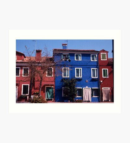 Houses, Burano Art Print