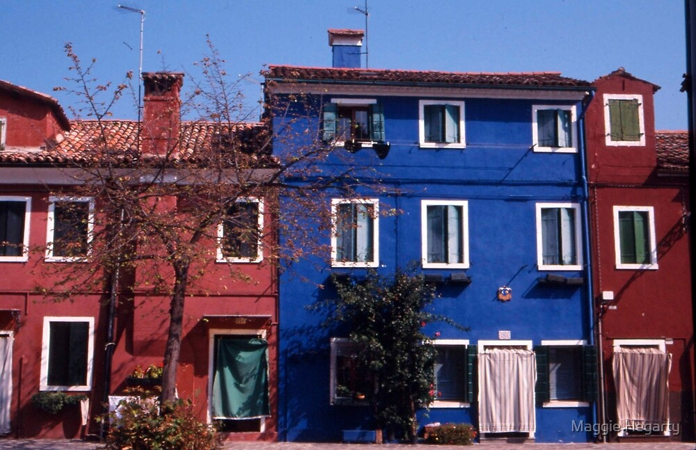 Houses, Burano by Maggie Hegarty