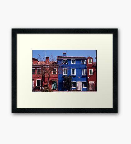 Houses, Burano Framed Print