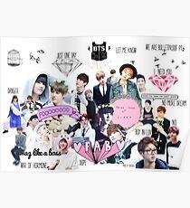 BTS/Bangtan Sonyeondan - Collage Poster