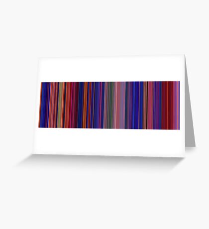 Moviebarcode: Aladdin (1992) [Simplified Colors] Greeting Card