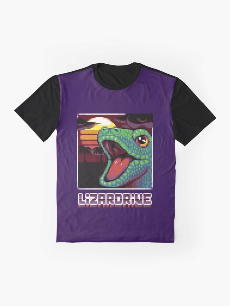 T-shirt graphique ''LIZARDRIVE': autre vue