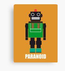 Paranoid Android Radiohead Tshirt Canvas Print
