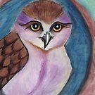 Purple Owl in a Hollow by Fiona Lokot