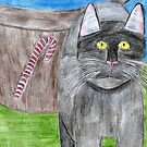 Christmas Cat Card 2010 by Bearie23