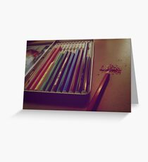 Colouring Pencils Greeting Card