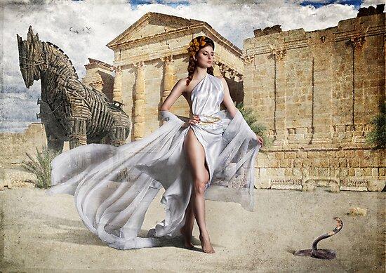Goddess Of Troy by Greg Desiatov