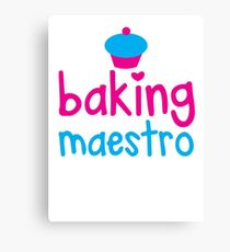 Baking Maestro Canvas Print