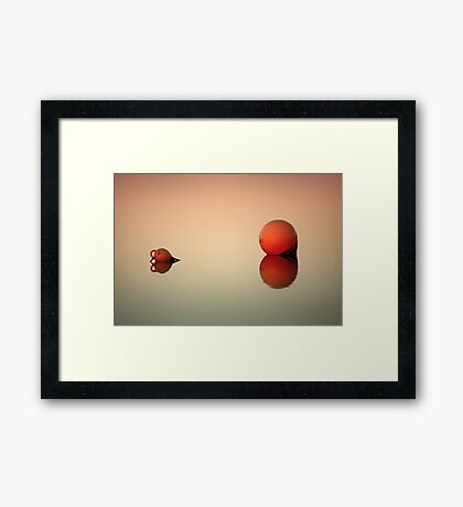 Even in the quietest moments... Framed Print
