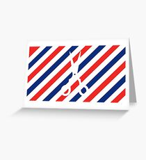 Barber Scissors Greeting Card