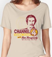 Channel 4 News Team with Ron Burgundy! Women's Relaxed Fit T-Shirt