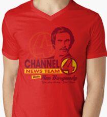 Channel 4 News Team with Ron Burgundy! Men's V-Neck T-Shirt
