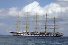 """5 Masts on the Aegean by Christine """"Xine"""" Segalas"""
