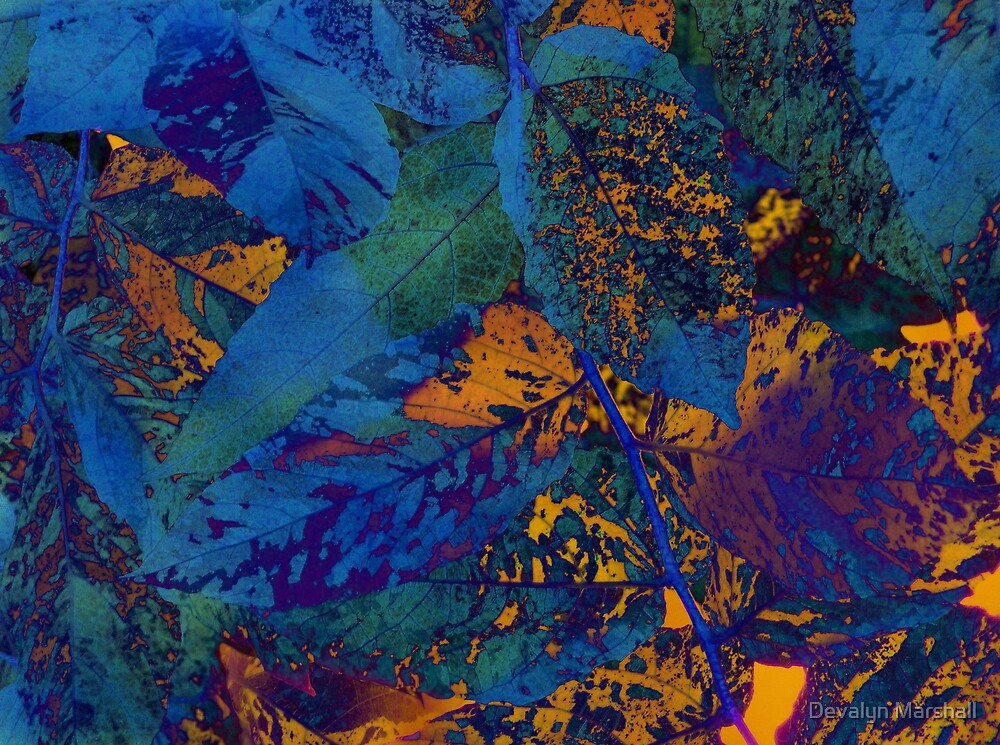 Leaves Abstraction III   by Devalyn Marshall