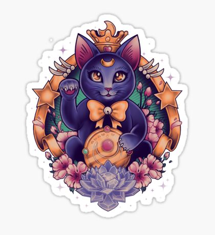 Maneki Luna Sticker