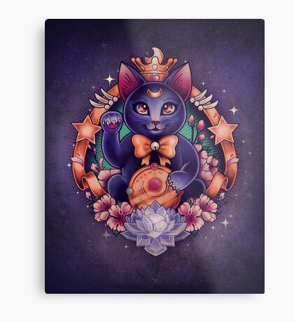 Maneki Luna Metal Print