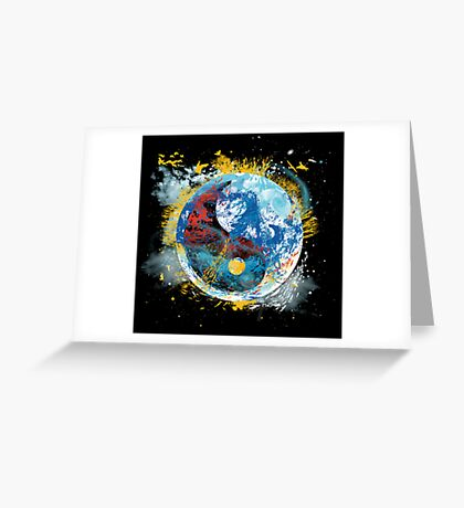 flux planet Greeting Card