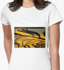 Yuanyang Terraced rice field  Women's Fitted T-Shirt