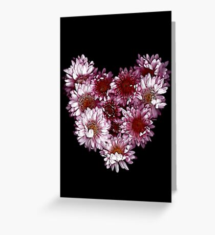 """Crysanthemums With Love"" Greeting Card"