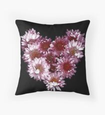 """Crysanthemums With Love"" Throw Pillow"